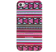 Purple Tones Mini Triangles Pattern Hard Case for iPhone 4/4S