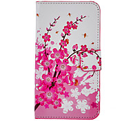 The Plum Blossom Drawing Pattern PU Leather Plastic Hard Back Cover Pouches for Samsung Galaxy Note3 N9000