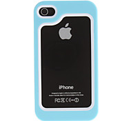 Solid Color TPU Bumper Frame for iPhone 4/4S (Assorted Colors)