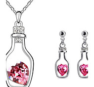 Bottle Earrings & Necklace Jewelry Set
