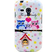Eulen Familie weiche TPU Tasche für Samsung Galaxy S3 I8190 Mini