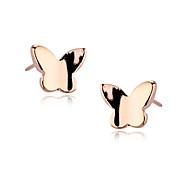 Fashion (Schmetterling) Goldene Legierung Ohrstecker (Silber, Gold) (1 Paar)
