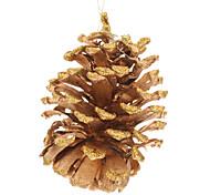 Golden Pine enfeites de natal Cone Decoração de Natal