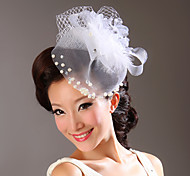 Women's Tulle / Imitation Pearl / Fabric Headpiece-Wedding / Special Occasion Flowers