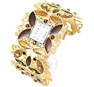 Women's Trend Rhinestone Alloy Style Analog Quartz Bracelet Watch Cool Watches Unique Watches Fashion Watch
