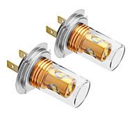 H7 10W 800LM 5500-6500K refrescan la lámpara LED de luz blanca para coche (12V-24V, 2 unidades)