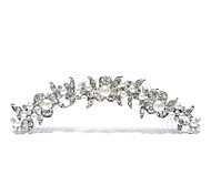 wedding tiara lega d'argento per la sposa (1pc)