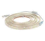Los 5M 300x5050SMD 3000K Warm Light PCB Luz de tira impermeable del LED blanca con Plug (220)