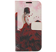 Maxiskit Girl Drawing Pattern Faux Leather Hard Plastic Cover Pouches for Samsung Galaxy S4 I9500