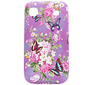 Flower Pattern Purple Protective Case for Samsung Galaxy S I9100
