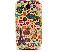 Eiffel Tower & Brood Glossy TPU Case voor Samsung Galaxy S3 I9300