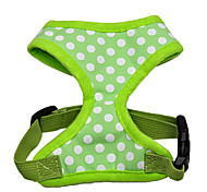 Adjustable Dots Pattern Harness for Pets Dogs (Assorted Colors, Sizes)