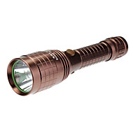 Sunny Land R206 Rechargeable 5-Mode Cree XP-G R5 LED Flashlight (240LM, 1x18650, Brown)