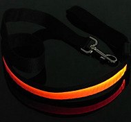 Dog Leash LED Lights Red / White / Green / Blue / Pink / Yellow / Orange / Rainbow Nylon