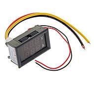 """0.28 """"LED Red Dual-exibição 3-Digital Medidor de Tensão de Corrente / Ampere / Medidor de Tensão (10A)"""