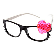 Kid's Heart Style Glasses Toy with LED (Random Color)