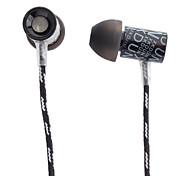 CK-660 auricolare in-ear in metallo auricolare con connettore di 3.5mm oro per Apple cellulare, iPad, PC, tablet, MP3