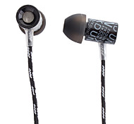 CK-660 Stereo In-ear fone de ouvido de metal com conector de Ouro de 3,5 mm para a Apple Celular, iPad, PC, tablets, MP3