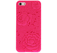 Mint Green Sweet Heart+Purple 3D Sculpture Rose Back Case for iPhone 5/5S(Assorted Color)