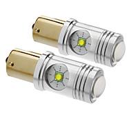 1156/BA15S 25W 1400LM Cris 5500-6500K fraîche Ampoule LED lumière blanche pour la voiture (12V-24V, 2pcs)