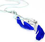 Sapphire Blue Feather Necklaces