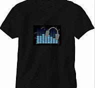 Sostituzione suono e la musica attivato spettro VU meter el visualizzatore (non incluso T-shrit)