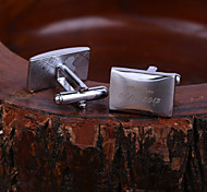 Personalized Gift Rectangle Engraved Cufflinks