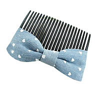Classic Blue Fabric Hair Combs For Women (Blue)