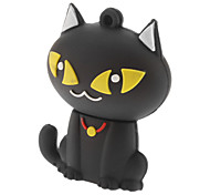 8GB Cute Cat USB Flash Pen Drive Black White