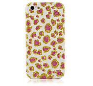 The Pink Leopard Grain Textile Cloth Art Back Case for iPhone 5C