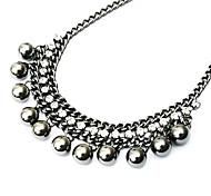 Europeos y americanos perlas de varias capas collar retro N143
