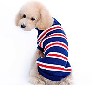 Dog Sweater Blue Winter Stripe