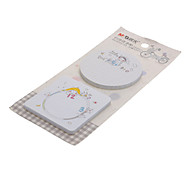 2 Pack Cute Paper Square and Round Self-Stick Notes