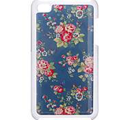 Charming and Delicate Rose Pattern Epoxy Hard Case for iPod Touch 4
