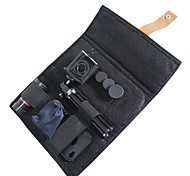 4-in-1 Wide Angle and Fish Eye and 2X Telephone Lens and 8x Zoom Camera Lens Kit with Tripod and Case for iphone 4/4S