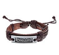 Unisex sogno braccialetto di cuoio Tessuto (colore casuale)