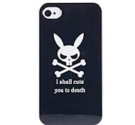 Joyland Skull Rabbit Pattern ABS Back Case for iPhone 4/4S