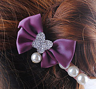 Purple Bowknot Barrettes