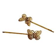 Vintage Barrettes aleación de oro para las mujeres (de oro)