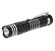 Smiling Shark SS-5048 Single-Mode LED Flashlight with Clip (1xAA, Blue/Black)