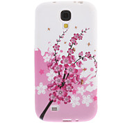 Pink Flower Back Case for Samsung Galaxy S4 i9500
