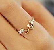 (1 Stk.) Diamant Anmerkungen versehene Öffnung Einstellbare Ring