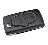 4-Button folding remote key shell(with slot) for Peugeot