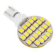 T10 194 168 W5W 24x3528SMD 120LM 6000-6500K Cool White Light LED Bulb for Car (12V)