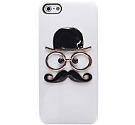 The Gentleman Face Pattern Metal Jewelry Back Case for iPhone 5/5S(Assorted Color)