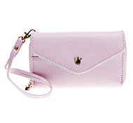 Lovely Envelope Purse Wallet Style Case Bag with Stylus Pen for Samsung / Iphone Cell Phones Under 5 Inches (Pink)