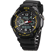 Men's Multifunction Analog-Digital Rubber Band Wrist Watch (Assorted Colors)