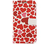 Love Hearts de desenho padrão do falso couro de plástico rígido Capa malotes para Samsung Galaxy Nota 2 N7100