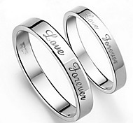 Z&X®  (2 pcs)Fashion Unisex Silver Alloy Couple Rings
