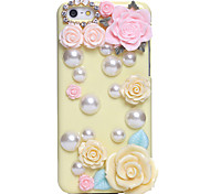 Pearl Flower Jewel Covered Cases for iPhone 5C